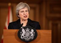 「最後までやり抜く」 メイ英首相が緊急記者会見で退陣圧力牽制