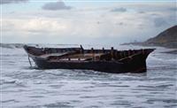 北の漂着船、最多の105件 海保、違法操業を警戒