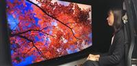 8Kテレビ、ワゴン車内でスゴさ体感…シャープ、年末へ「行商」作戦
