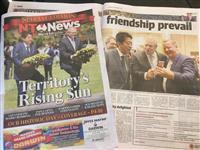 安倍首相の初の豪ダーウィン訪問、地元紙は好意的に報道