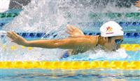 池江璃花子、100バタで優勝 競泳の北島康介杯