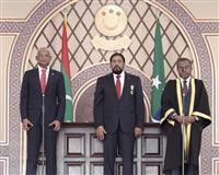 モルディブ新大統領が就任 脱「中国」掲げ当選、インドにインフラ整備で支援要請