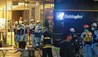大阪・ミナミのホテルで異臭騒ぎ 中国人宿泊客2人が搬送