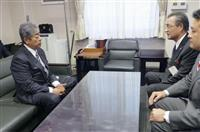 砲弾落下、再発防止へ説明 防衛相、滋賀・高島市長に