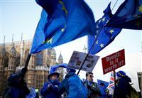 メイ英首相「英国のためになる合意を遂行と決意」 協定案堅持の姿勢強調 不信任投票の動き…