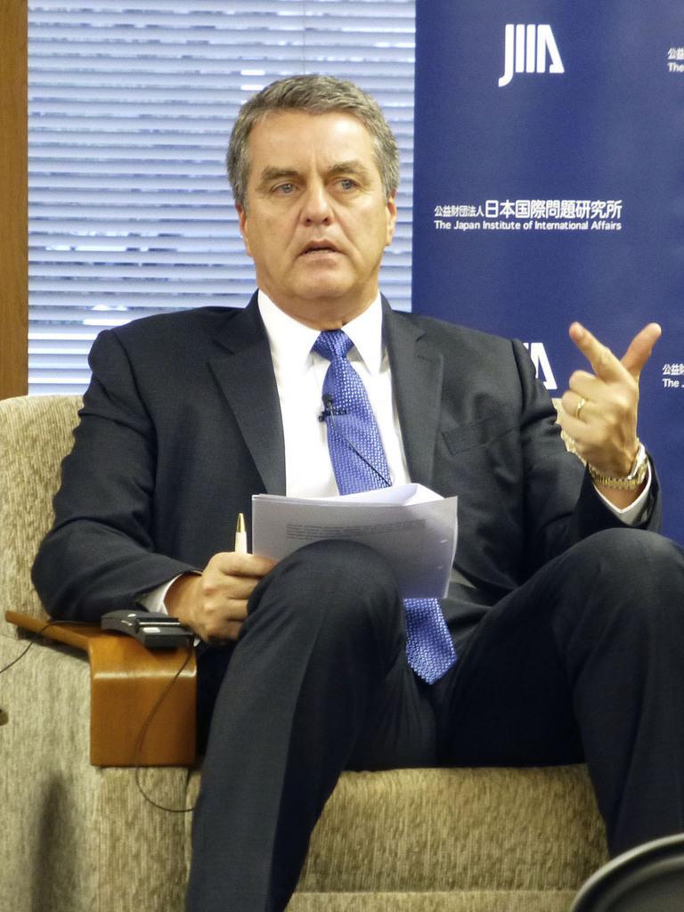 WTOのアゼベド事務局長