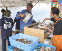 カキ小屋を地域の名物に 海南の塩津漁港にオープン