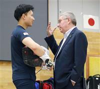 IOCのバッハ会長、NTC訪問