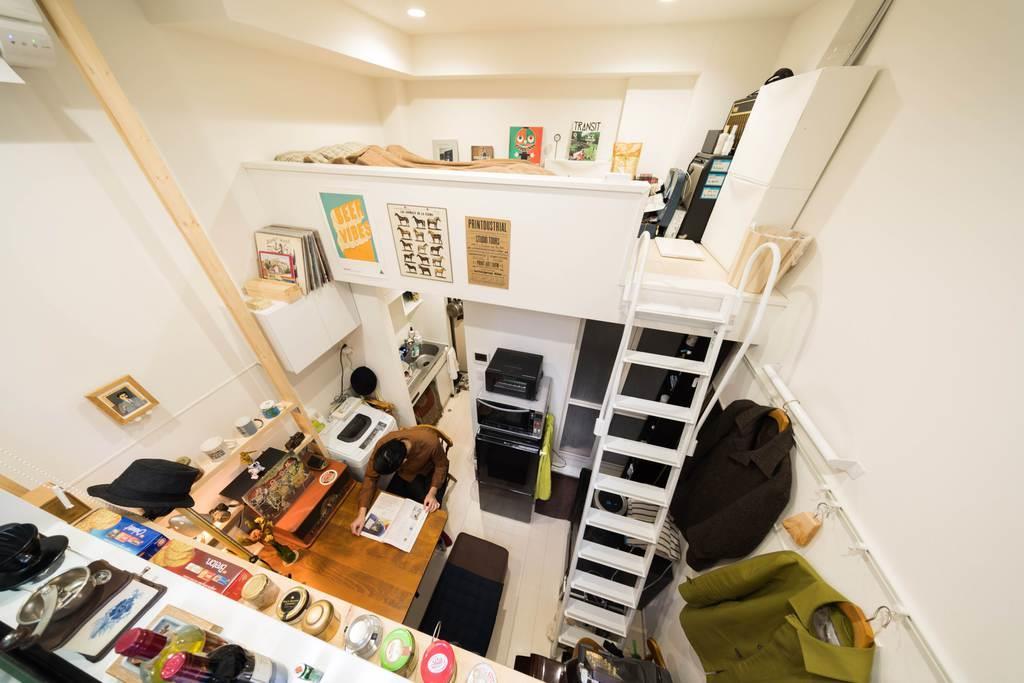 狭小賃貸「ククリ」のシリーズでは、天井が高いため、ロフトも広々と使うことができる(スピリタス提供)