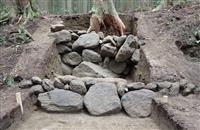 多気北畠氏遺跡の金国寺跡、急斜面を石積みで造成 津市教委、遺構など発見
