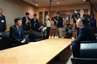 日田彦山線復旧へ福岡知事とJR九州社長が意見交換
