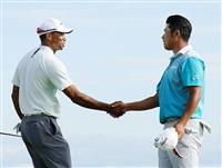松山英樹、タイガー・ウッズは14位 米男子ゴルフの慈善大会第2日