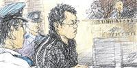 石橋和歩被告、つぶやき声で発言 ジャージー姿で出廷 東名あおり事故初公判