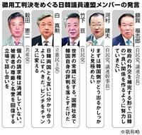 議員外交の意義問われる日韓議連 14日にソウルで合同総会 「徴用工」判決で適切な対応促…