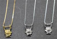 ひこにゃん、ネックレスに 職人手作り、彦根の宝石時計店