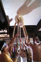 千眼寺保呂羽堂の餅つき 山形県米沢市の師走行事