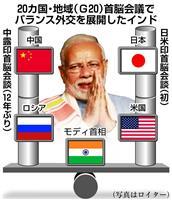 インド「バランス外交」追求 「日米とは連携確認、中露とも首脳会談