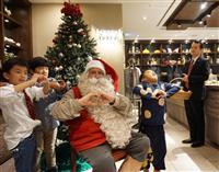 フィンランドから京都のホテルにサンタ 「児童ら礼儀正しい」