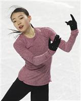 紀平梨花「いい成績で」 フィギュアのGPファイナル公式練習