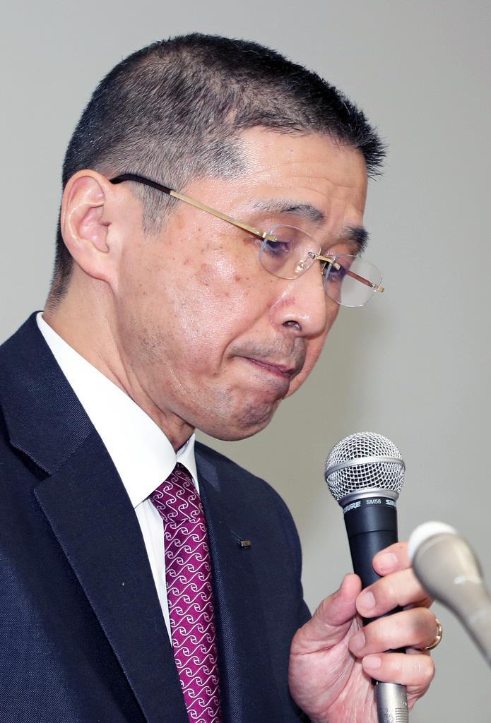 日産自動車の西川広人社長(松本健吾撮影)