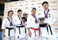 植草歩、女子組手初の4連覇 空手の全日本選手権