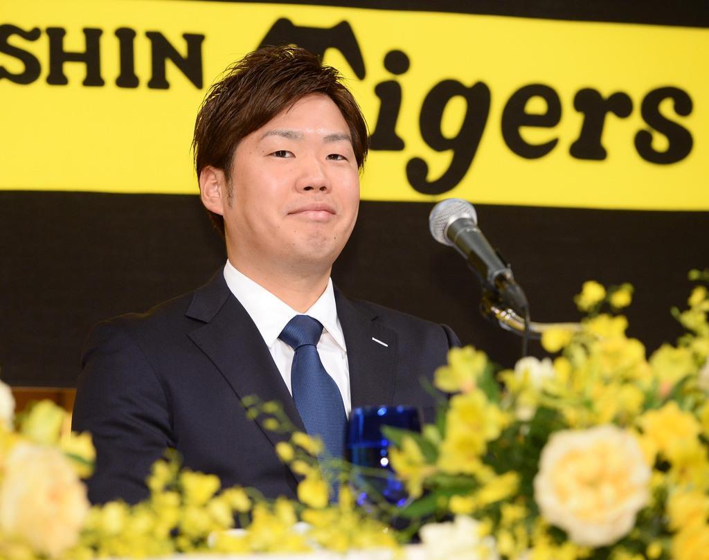 阪神入団の西、投球回数を意識「甲子園熱くできれば」