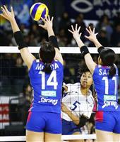 パナ、久光などが準々決勝へ 高校勢は姿消す バレーボール全日本選手権