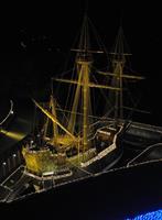 冬の夜に輝く遣欧使節船 宮城