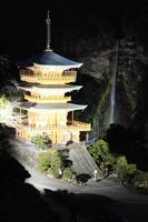 那智の滝ライトアップ試験点灯 和歌山