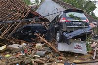 インドネシア津波、死者280人超 噴火継続、警戒続く
