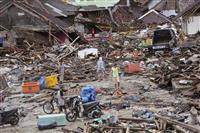 インドネシア津波、死者429人に