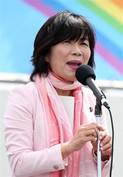 自由党の森裕子氏(飯田英男撮影)