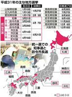 【統一地方選2019】10知事選と5政令市長選の情勢分析