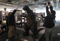 初代ゴジラがお出迎え 円谷英二ミュージアム、公開初日に約400人