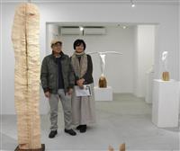 東日本大震災で被災し奈良移住 彫刻家夫妻、恩返しの展覧会
