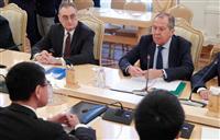 ラブロフ氏「大きな隔たり」 日露平和条約交渉、本格開始