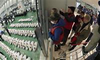 専用デッキでマグロ競りを 豊洲市場で見学始まる