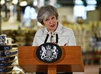 メイ英首相、EU離脱「否決なら壊滅的打撃」 15日採決