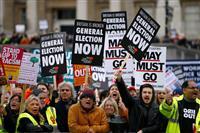 メイ英首相苦境 EU離脱案否決なら合意なき離脱が現実味