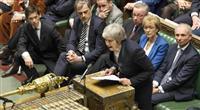 EU離脱案、大差で否決 メイ首相窮地 与党大量造反