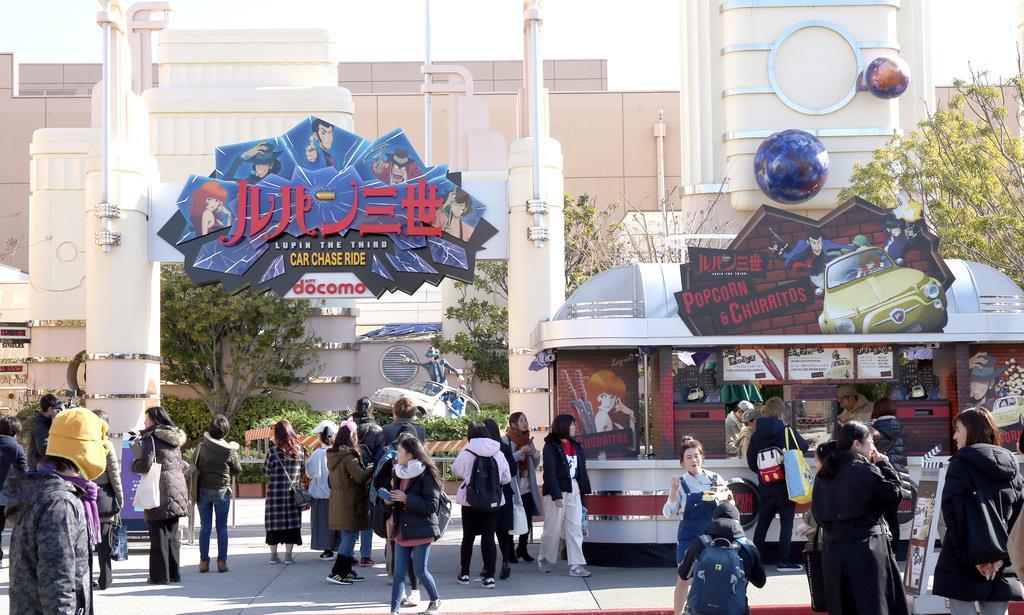 ユニバーサル・クールジャパン2019に「ルパン三世カーチェイスXRライド」が登場=17日、大阪市此花区のUSJ(前川純一郎撮影)