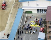 小学校給食棟で火災 児童43人体調不良、大阪・寝屋川