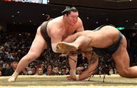 白鵬、7連勝で単独首位 大関安泰、1敗に平幕4人 大相撲初場所