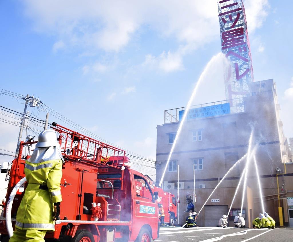 阪神大震災の教訓継承を 神戸・三ツ星ベルトで訓練