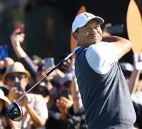 ウッズ53位に不満げ「67出せたのに」 米男子ゴルフ