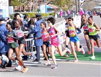【大阪国際女子マラソン・速報(3)】福士転倒のアクシデント、流血も先頭集団にすぐに追い…