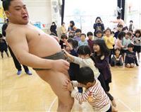 「プニプニしていた」力士と園児が相撲交流