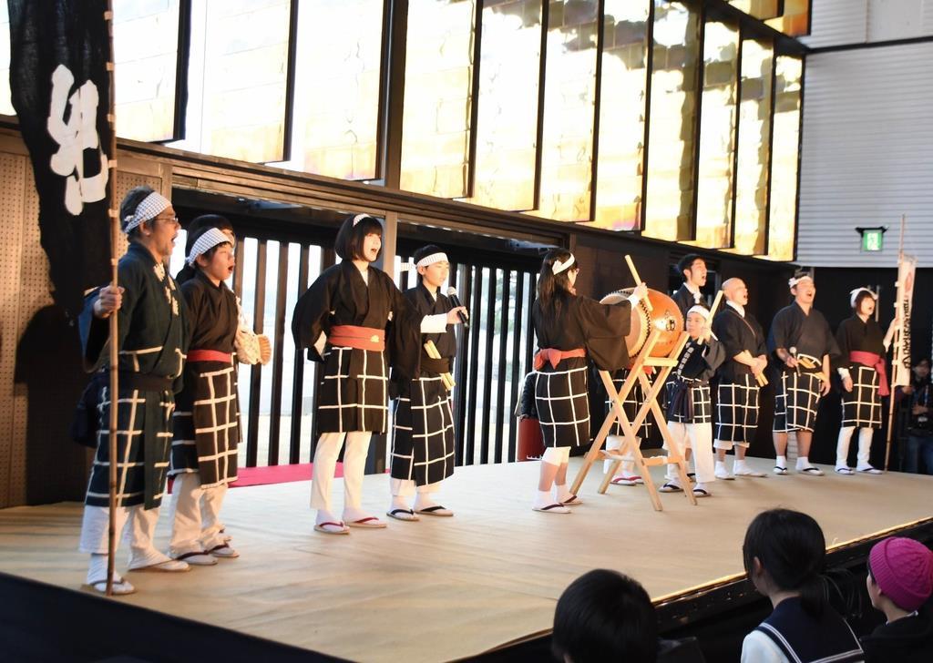 和歌祭で歌われる「御船歌」も披露された=和歌山市
