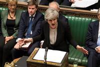 EU離脱、メイ首相の再交渉方針を英議会が支持 EUは「拒否」強調