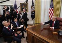トランプ氏「大きく進展」 米中貿易協議、首脳会談調整へ
